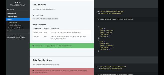 How to build an API docs site using Slate – Scottydocs com